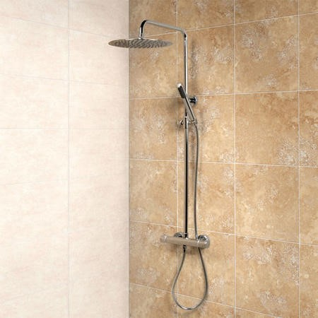 Minimalist Deluxe Riser Slide Shower Rail Kit with Valve