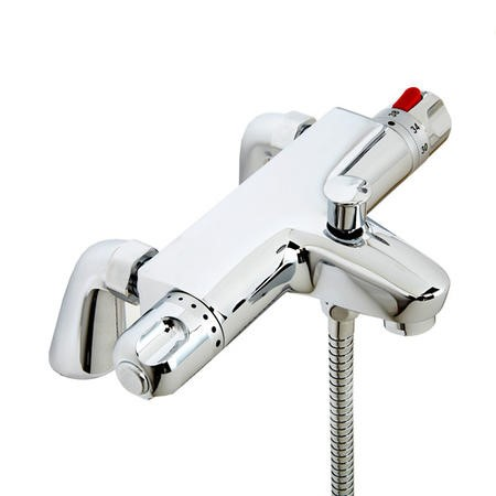 Laos Deck Mounted Bath Shower Mixer with Rail Kit
