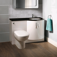 Bow front Toilet & Basin Combination Unit with Santorini Back to Wall Toilet - Kirkwood Range