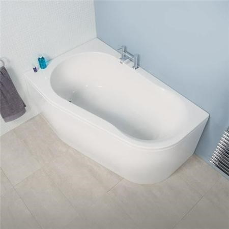 1500 x 900 Prima Offset Luxury Left Handed Corner Bath