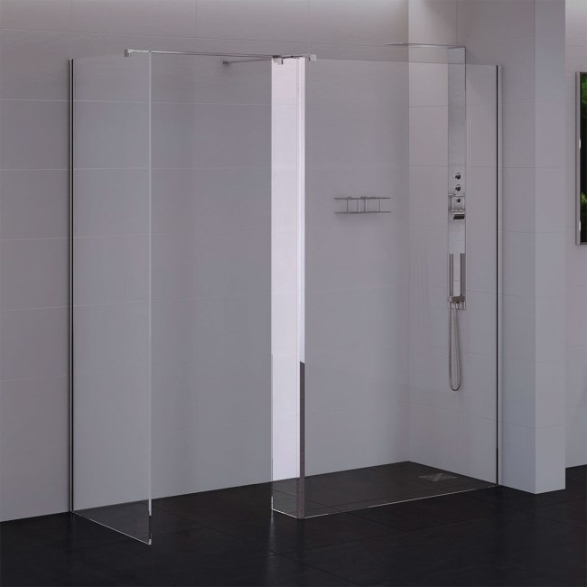 Return Shower Panel 250 x 2000mm 10mm Glass - Trinity Premium Range