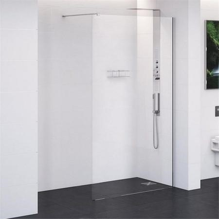 760 x 2000 Wet Room Screen - 10mm Easy Clean Glass - Trinity Range
