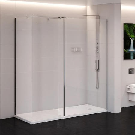 Trinity Premium 10mm 1400 x 900 Walk In Enclosure with Shower Tray