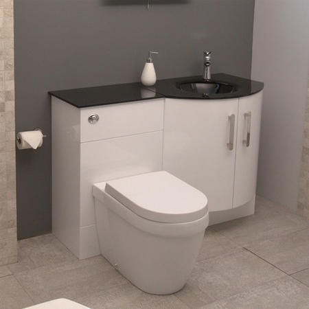 Vigo Bow Front Right Hand Combination Unit - Aurora Toilet