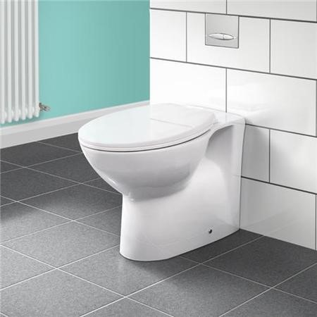 Back to Wall Toilet with Dual Flush Concealed Cistern - Tampa Range