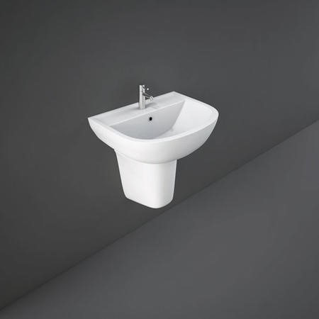 Compact 45cm Basin 1 Tap Hole with Semi-Pedestal