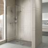 900mm Walk In Shower Screen with 300mm Hinged Return Screen - 8mm Glass