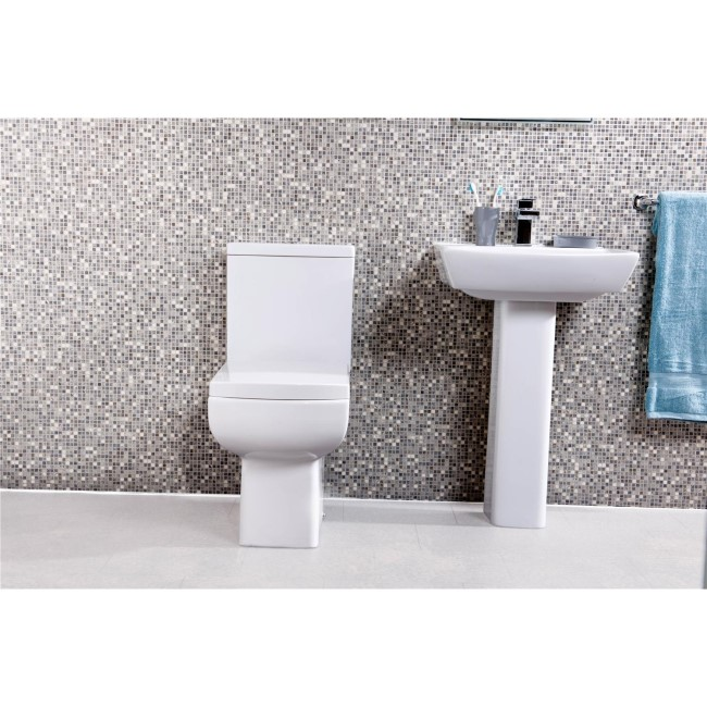 Delta Full Pedestal Toilet and Basin Suite