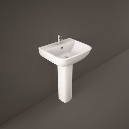 Series 600 52cm Basin 1 Tap Hole with Full Pedestal