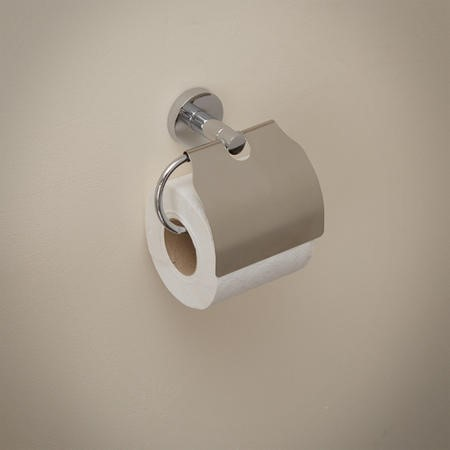 Impressions Toilet Paper Holder With Lid