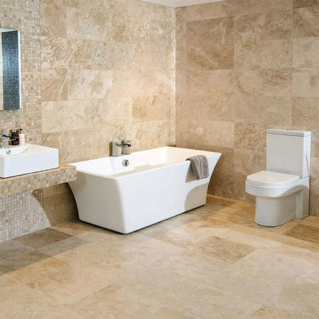 Premium Classic Beige Rectangular Honed & Filled Travertine Wall/Floor Tile