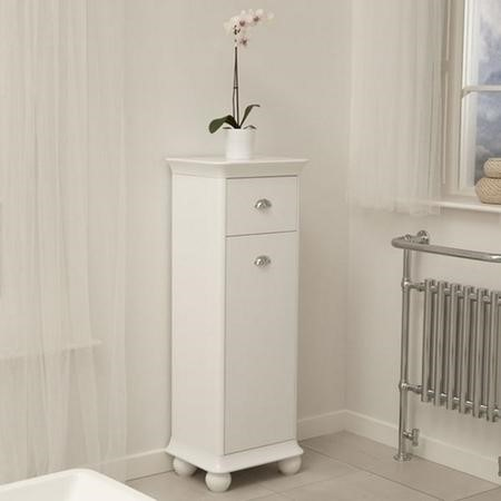 1280mm Storage Unit - White Bathroom Cabinet - Valencia Range