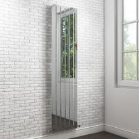 Vega Single Flat Panel Chrome Vertical Radiator - 1600 x 450mm