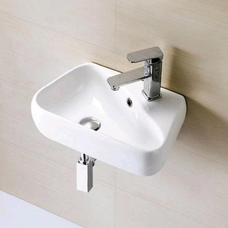 Eton Wall Hung Cloakroom Basin Left Handed