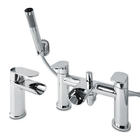 Cirque Waterfall Basin Mixer and Bath Shower Mixer Tap Pack