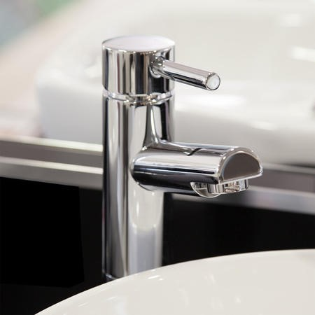 GRADE A1 - Deluxe Extended Basin Mixer Tap - Peru Range