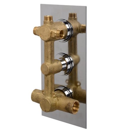 EcoStyle Concealed Triple Control Thermostatic Shower Valve with Diverter