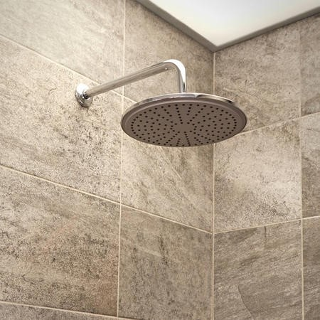 Round 250mm Rain Shower Head & Wall Arm