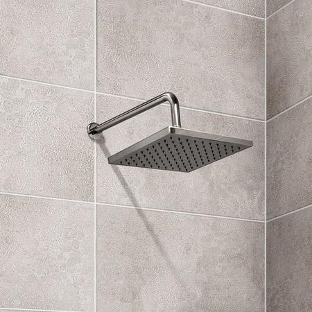 Square 200mm Shower Head & Wall Arm