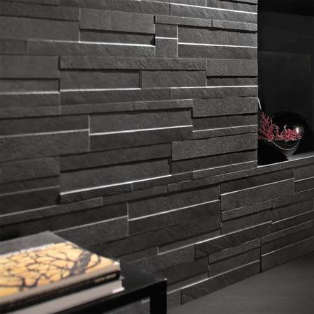 ego coal brick effect wall tile better bathrooms. Black Bedroom Furniture Sets. Home Design Ideas