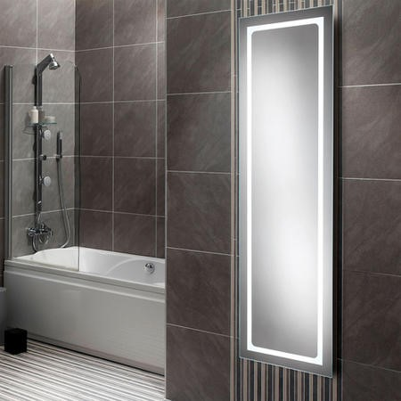 Zeus Elongated Illuminated LED Mirror 1400H 420.5W 40.5D