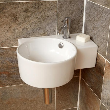 Strava Cloakroom Left Hand Wall Mounted Basin