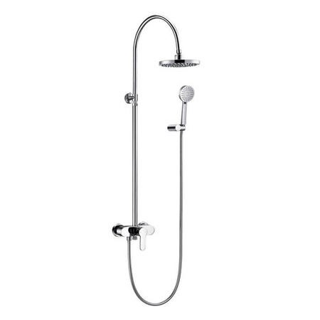 Premium Rigid Riser Shower Rail Kit with Nuovo Valve - Alfreda Range
