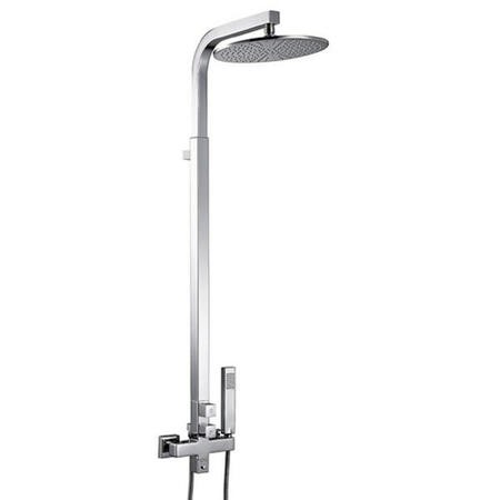 Centry Rigid Riser Shower Rail Kit with Dual Valve