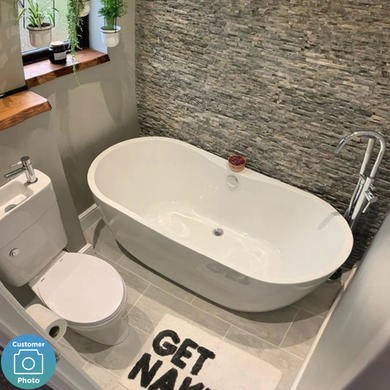 Double Ended Freestanding Bath - L1650 x W750mm - Lisbon
