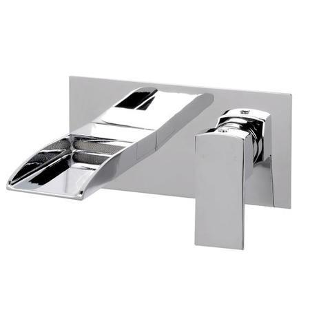 Tabor Waterfall Wall Mounted Bath Filler Better Bathrooms