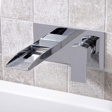 Tabor Waterfall Wall Mounted Bath Filler