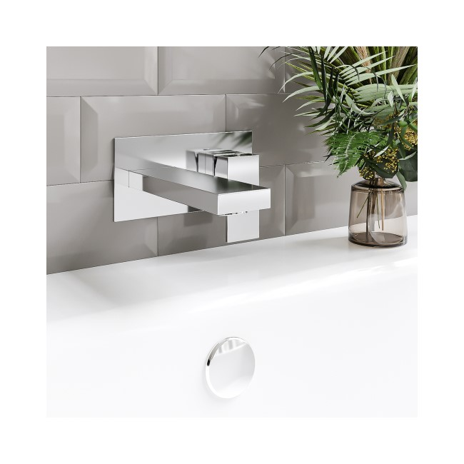 GRADE A2 - Wall Mounted Bath Filler - Cube Range