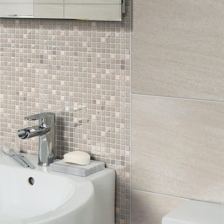 Jewel Grey Wall Mosaic Better Bathrooms