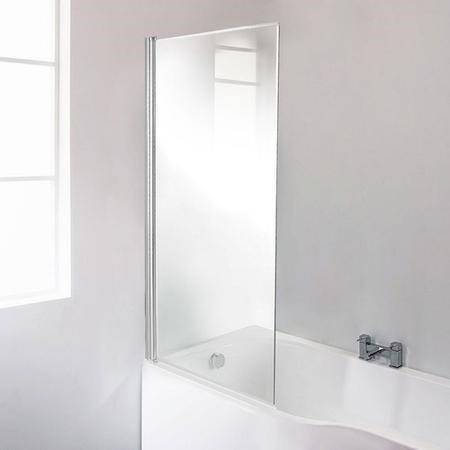 Fixed Bath Shower Screen with Straight Top - H1435 x W821mm