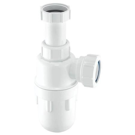 McAlpine A10A Adjustable Bottle Trap - White