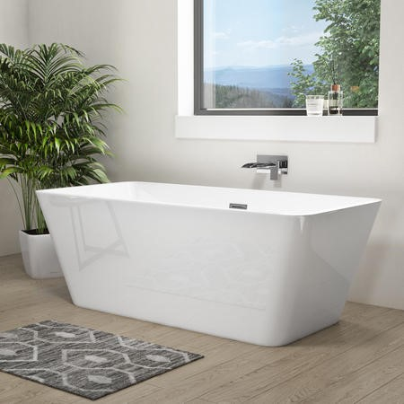 Porto Luxury Freestanding Double Ended Bath - L1615 x W720mm