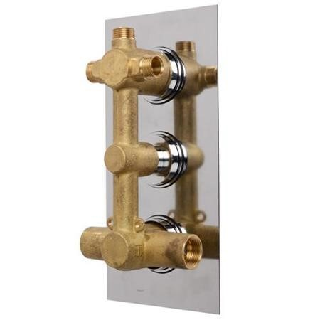 EcoCube Concealed Triple Control Shower Valve with Diverter