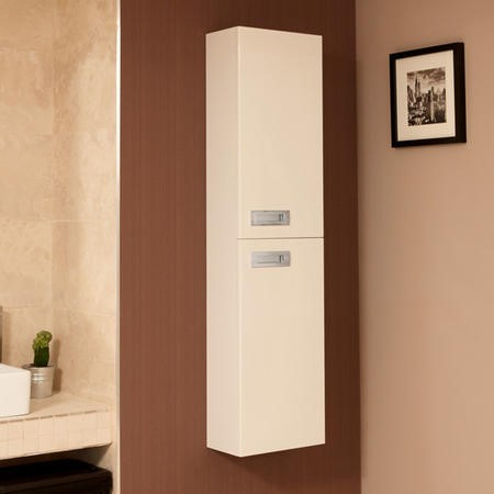 Double Door Bathroom Cabinet Wall Mounted 1400mm Right Handed - Aspen Compact Range