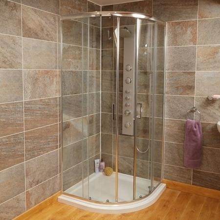 1000 x 1000mm Quadrant Sliding Shower Enclosure - Aqualine