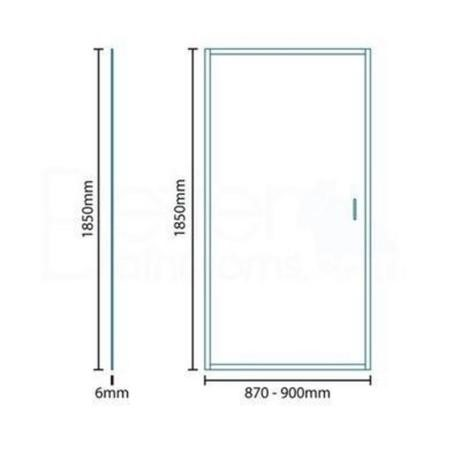 Aqualine 6mm 900 Pivot Shower Door