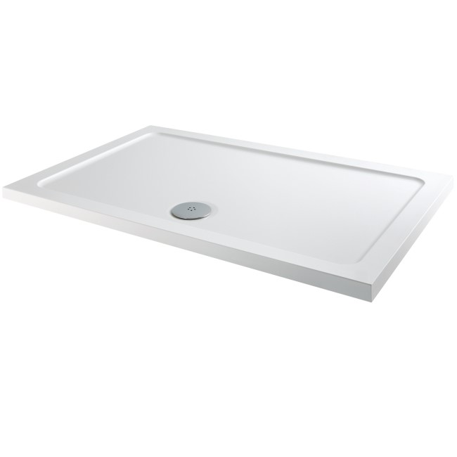 Rectangular Low Profile Shower Tray 1100 x 760mm - Slim Line