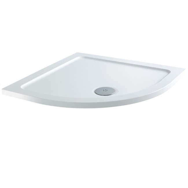 Quadrant Low Profile Shower Tray 1000 x 1000mm - Slim Line