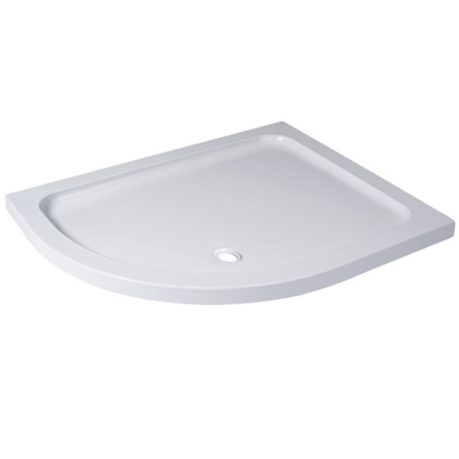 Offset Quadrant Left Hand Low Profile Shower Tray 900 x 760mm - Slim Line