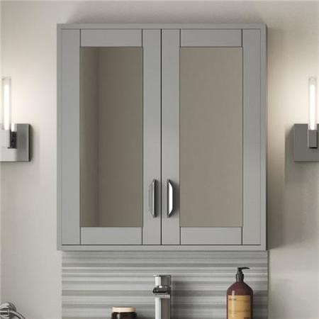 Nottingham Grey Mirrored Cabinet