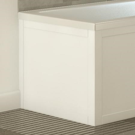 Nottingham White L shape End Panel