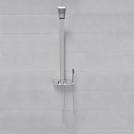 GRADE A1 - Chrome Luxury Thermostatic Shower Tower Panel with Shower Handset
