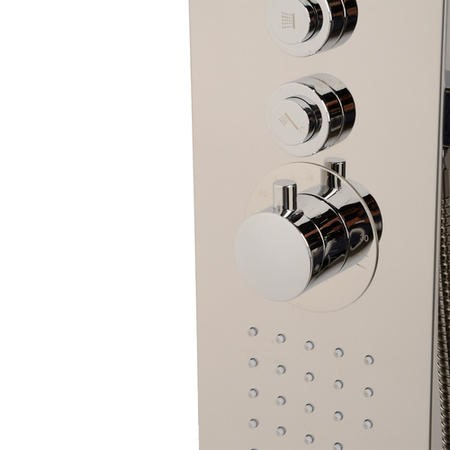 Catalina Steel Thermostatic Shower Tower Panel