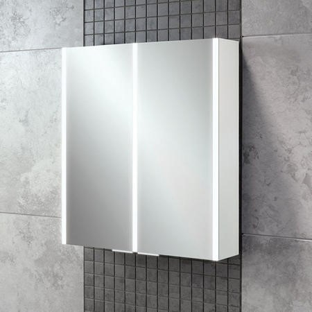 600mm Wall Hung Mirrored Cabinet - Double Door Bathroom Storage - Perth Range