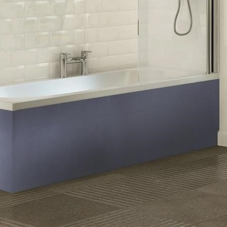 Cuba 1700mm Grey Bath Panel with Plinth - Height Adjustable