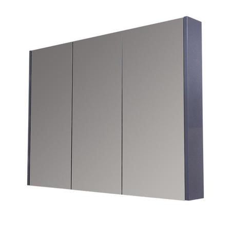 900mm Wall Hung Mirrored Cabinet - Grey 3 Door Unit - Windsor Range